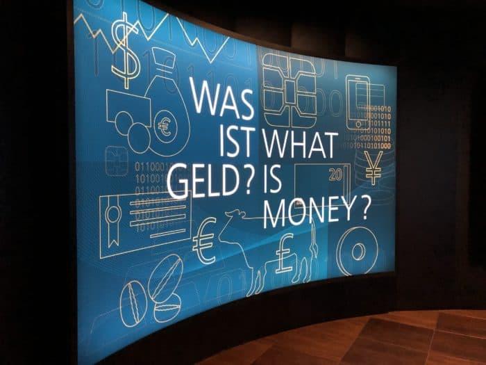 Audiotafel Geldmuseum Frankfurt