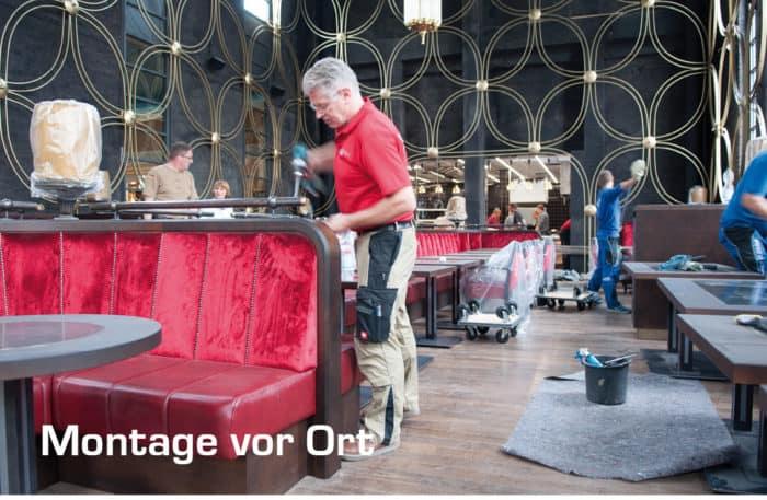 Montage beim Kunden Hohoffs Hagen Stuhlfabrik Schnieder
