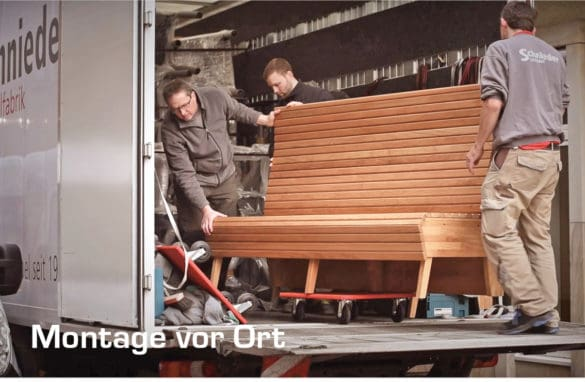 Montage-beim-Kunden-Stuhlfabrik-Schnieder-585x382 Stuhlfabrik Schnieder: hochwertige Gastronomiemöbel Made in Germany