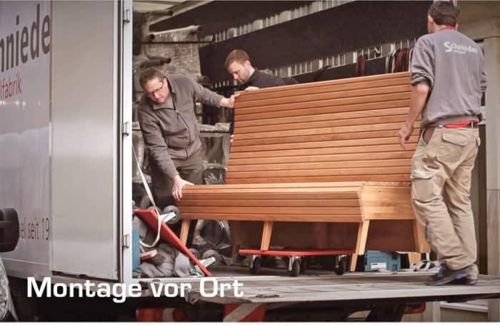 Montage beim Kunden Stuhlfabrik Schnieder