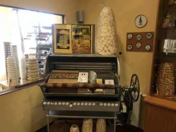 Baumkuchenmaschine im Museum Harzer Baumkuchen