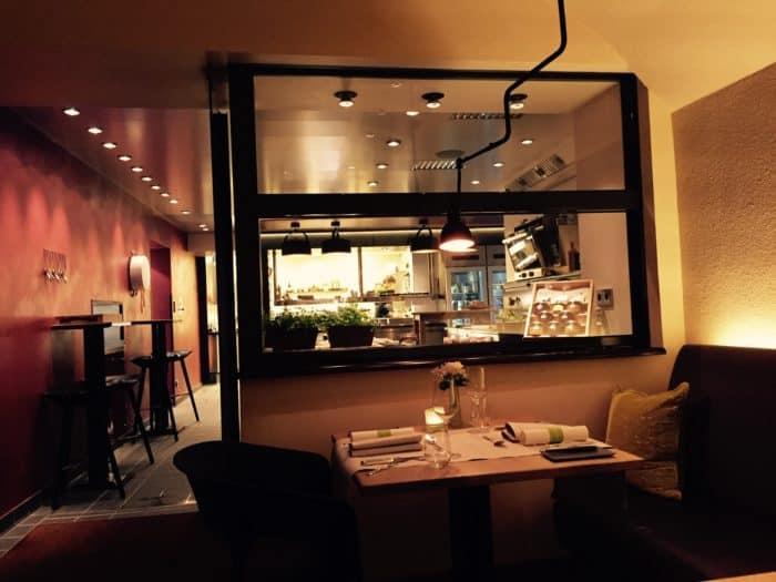Blick in Küche des Restaurants