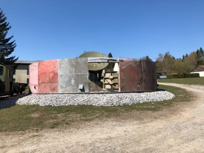 Stasi-Kuppel vom Brocken im Wiederaufbau