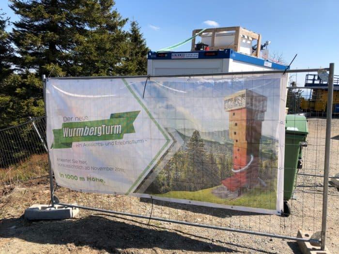 Baustellenschild Erlebnisturm Wurmberg