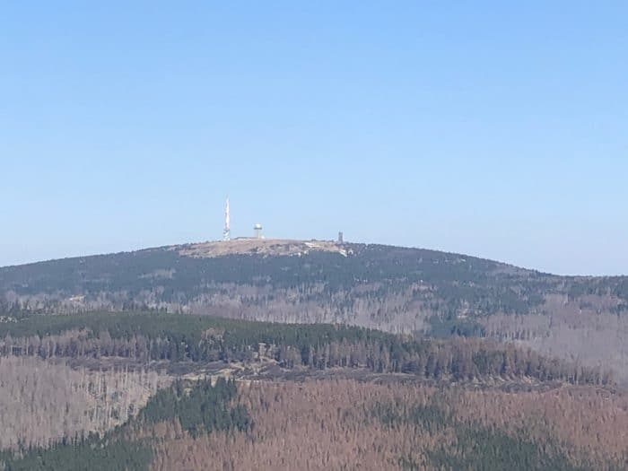 Blick vom Wurmberg auf den Brocken