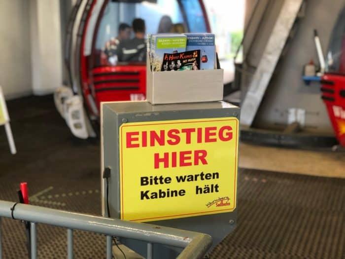 Einstieg in Gondel Wurmbergseilbahn Braunlage