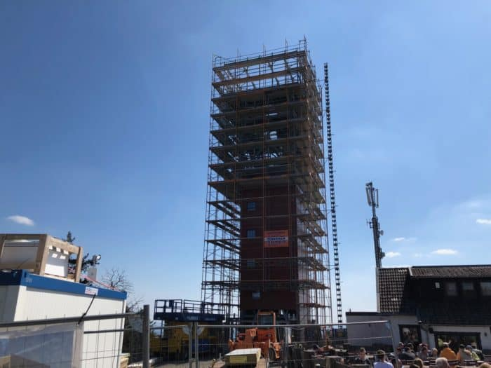 Im Aufbau: Erlebnisturm Wurmberg