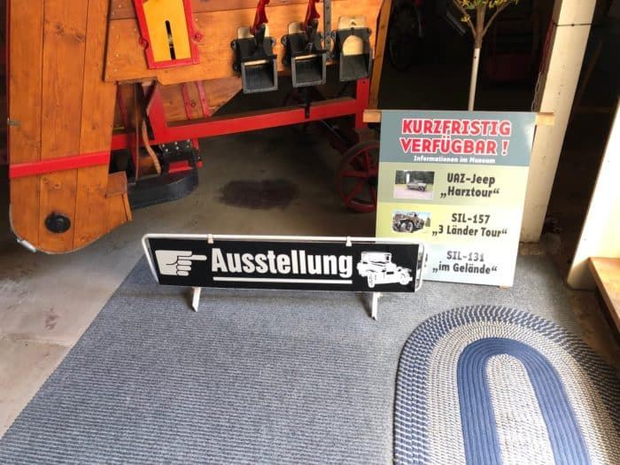 Zur Ausstellung Fahrzeugmuseum
