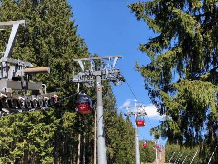 In luftiger Höhe, Gondeln der Wurmbergseilbahn