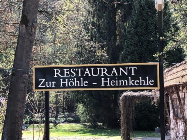 Schild Restaurant Heimkehle