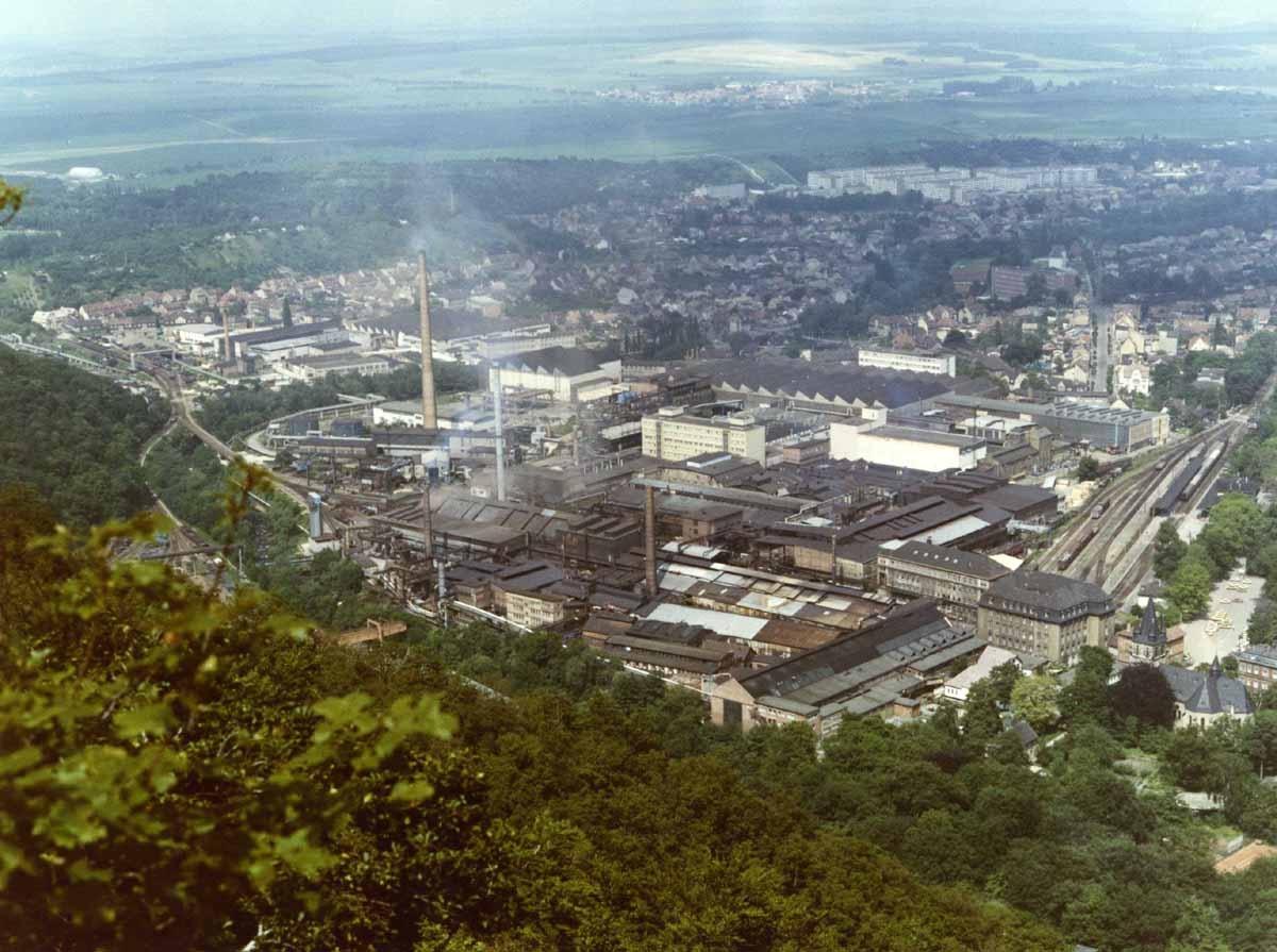 Werksansicht des VEB Eisenhüttenwerks Thale, 1985
