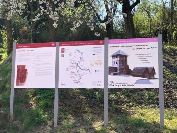 Kaiserpfalz Tilleda, Hinweis- und Geschichtstafel