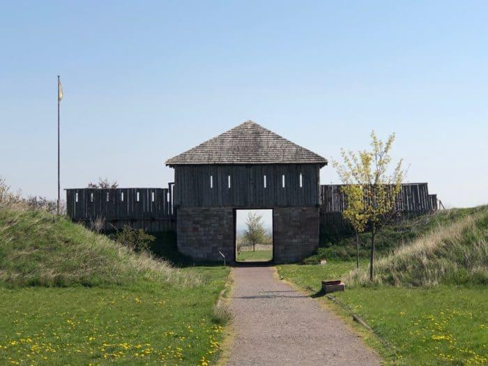 Königspfalz Tilleda, Kammertor zur Hauptburg