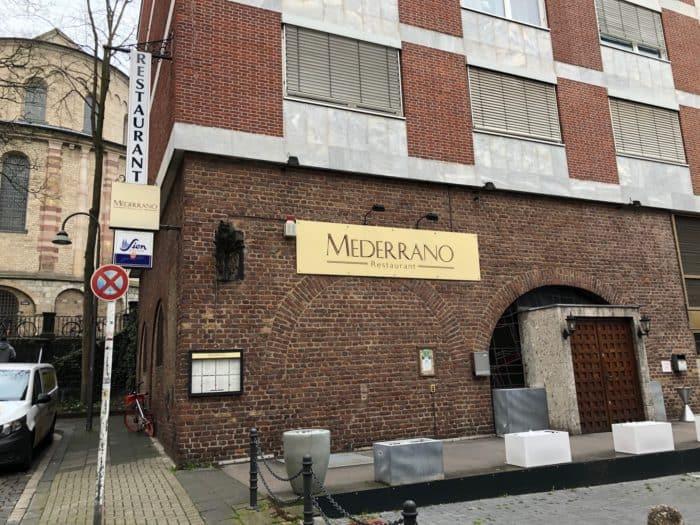 Außenansicht Restaurant Mederrano Köln