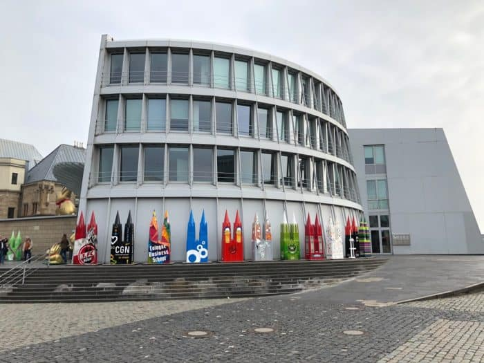 Blick auf Schokoladenmuseum Köln