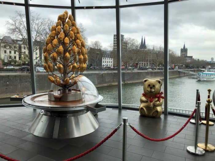 Schokoladenbrunnen im Schokoladenmuseum Köln