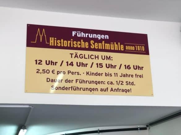 senfmuehle_koeln_hinweistafel-585x439 Die über 200 Jahre alte Senfmühle Köln erkunden und erleben