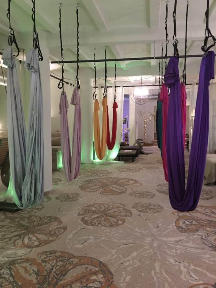 Aerial Yoga im Nägler's - Fine Lounge Hotel Oestrich-Winkel