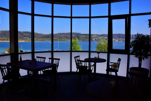 Blick von Villa am See auf den Bodensee