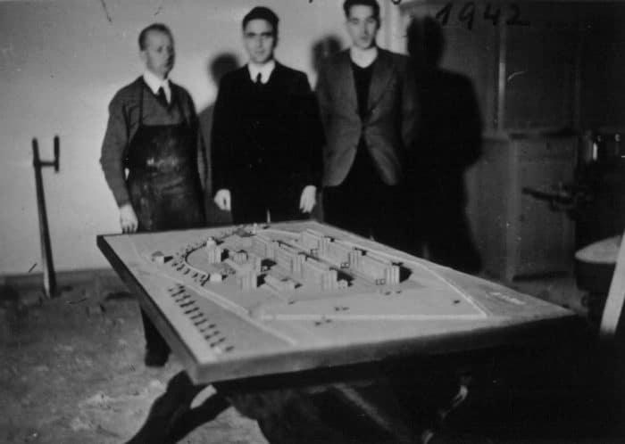Modell Schickert-Rhumspringe in der ersten Planungsphase
