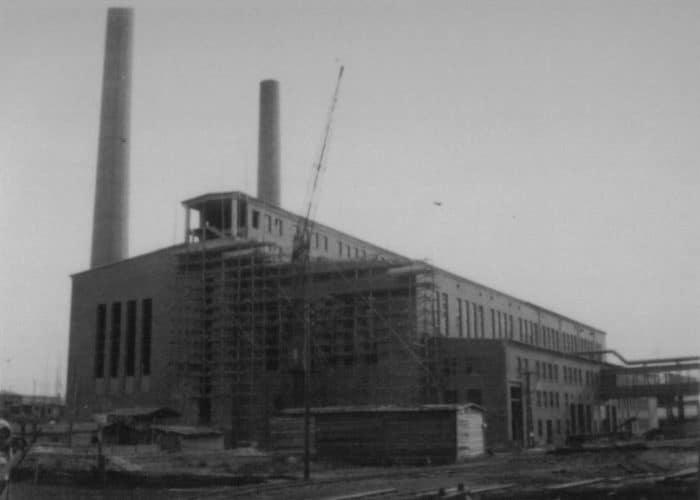 Schickert-Werke Rhumspringe im April 1945, noch im Aufbau begriffen