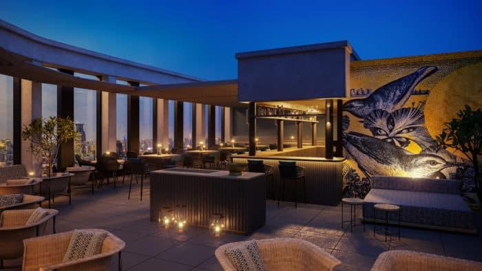 Rooftop Restaurant Überland mit Blick auf Braunschweig