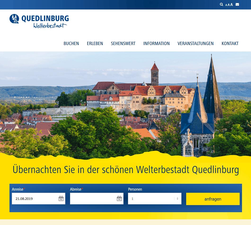 Welterbestadt Quedlinburg erhält neue touristische Webpräsenz