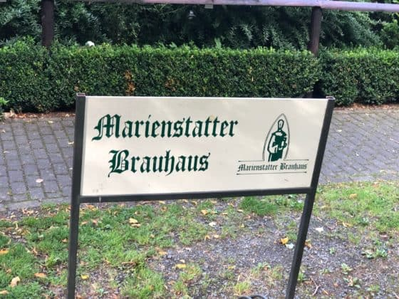 Hinweisschild Marienstatter Brauhaus