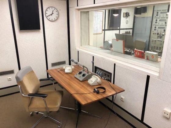 Sprecherraum: Radio-Nachrichten direkt aus dem Bunker