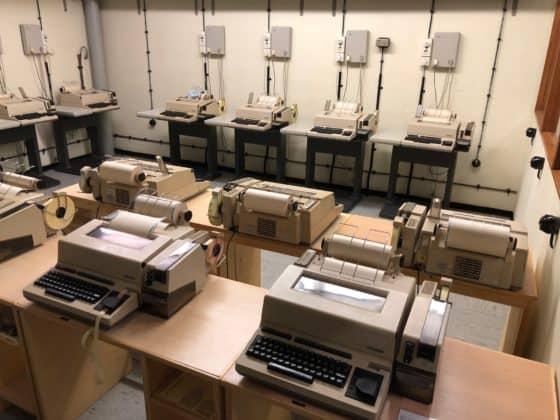 Fernschreiber im Atombunker in Kall