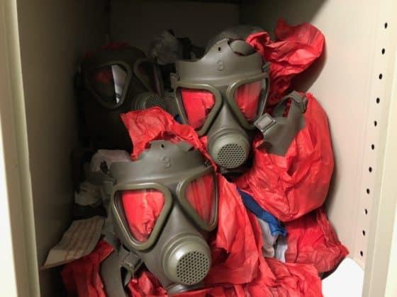 Vorrat an Gasmasken für den Ernstfall