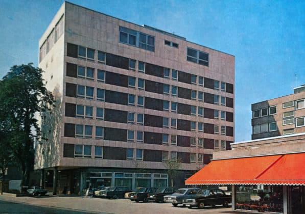 Postkarte Kaisergarten-Hotel Siegen, um 1978