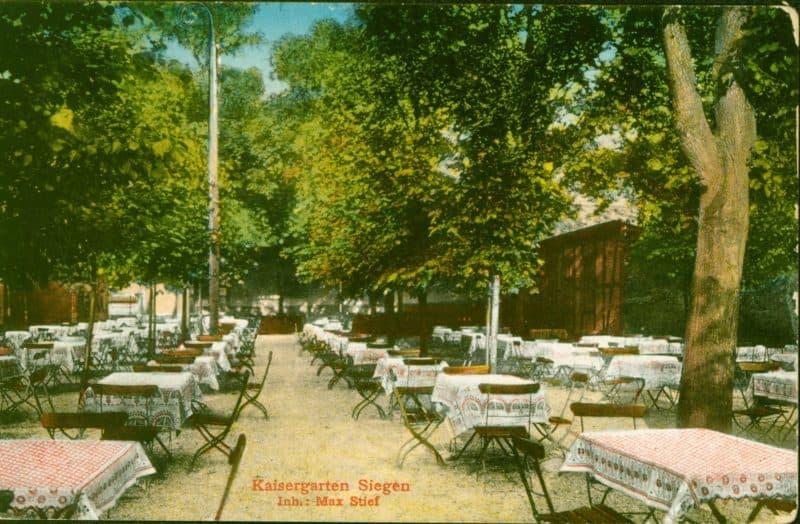 Biergarten Kasiergarten Siegen um 1917