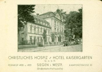 Werbeflyer Christliches Hospiz Kaisergarten Siegen