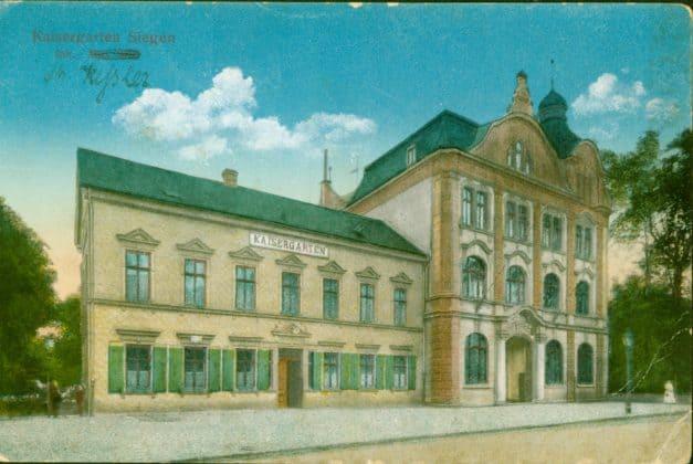 Hotel Kaisergarten Siegen um 1918