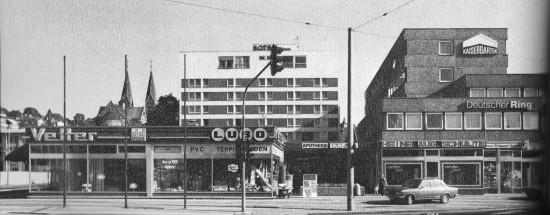 Blick auf neues Kaisergarten-Hotel (1973)