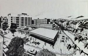 Frühe Planung Hotel und Geschäftszentrum Kaisergarten Siegen
