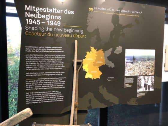 Adenauer-Haus Tafel Neubeginn nach 1945