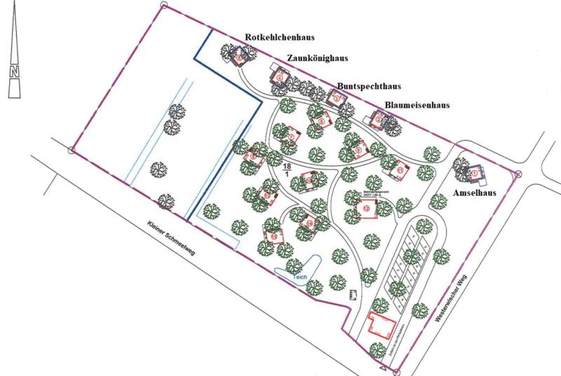 Lageplan Baumhuashotel
