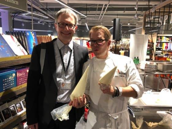 Redaktuer Frank Baranowski mit Mario Kotaska
