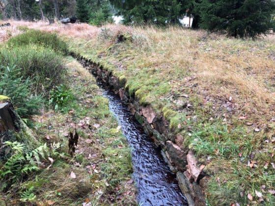 Abschnitt des Wasserregals