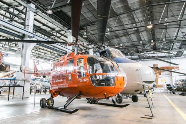 Flugzeuge in Hangar 3 der Wernigeröder Luftfahrtausstellung