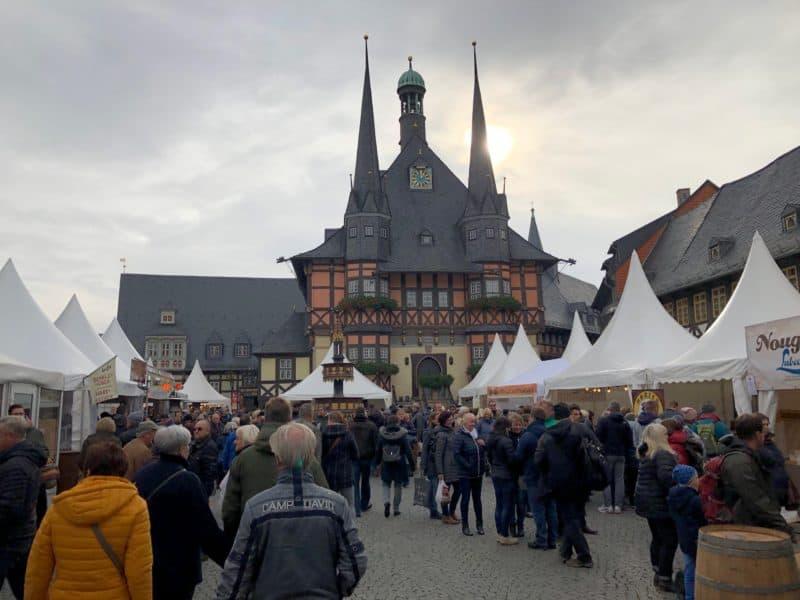 Rathausplatz wernigerode, scholokladenfest 2019