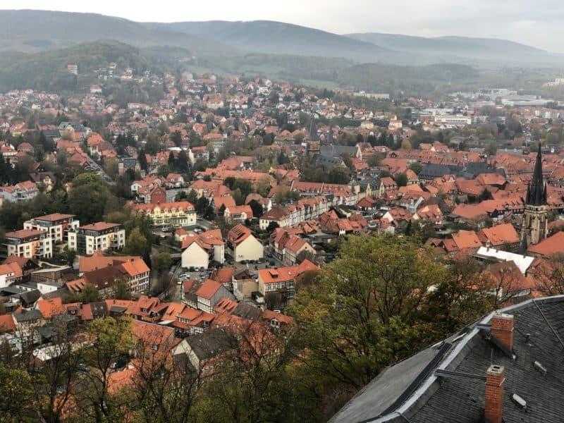 Blick vom Schoss-Plateau über Wernigerode