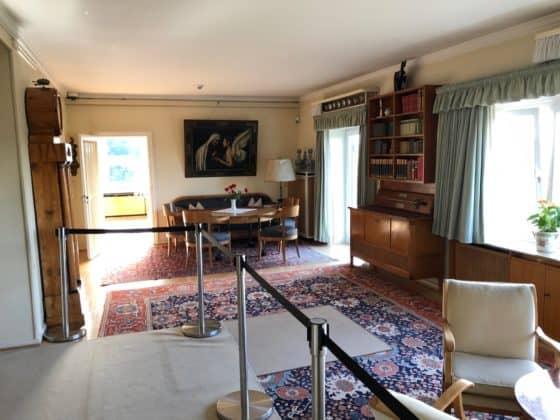 Blick in das Wohnzimmer von Adenauer