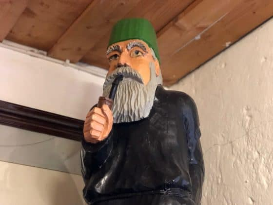 Holzfigur Bergmann Grube Samson