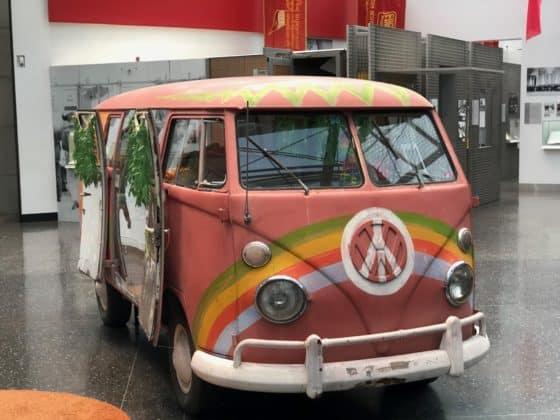 Hippi VW-Bus im Haus der Geschichte