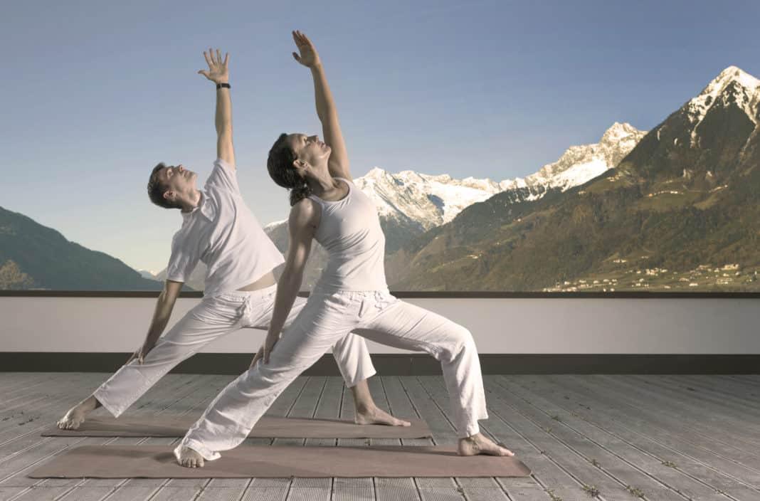 Entspannung pur beim Yoga in den Mentalräumen des Hotel Hohenwart