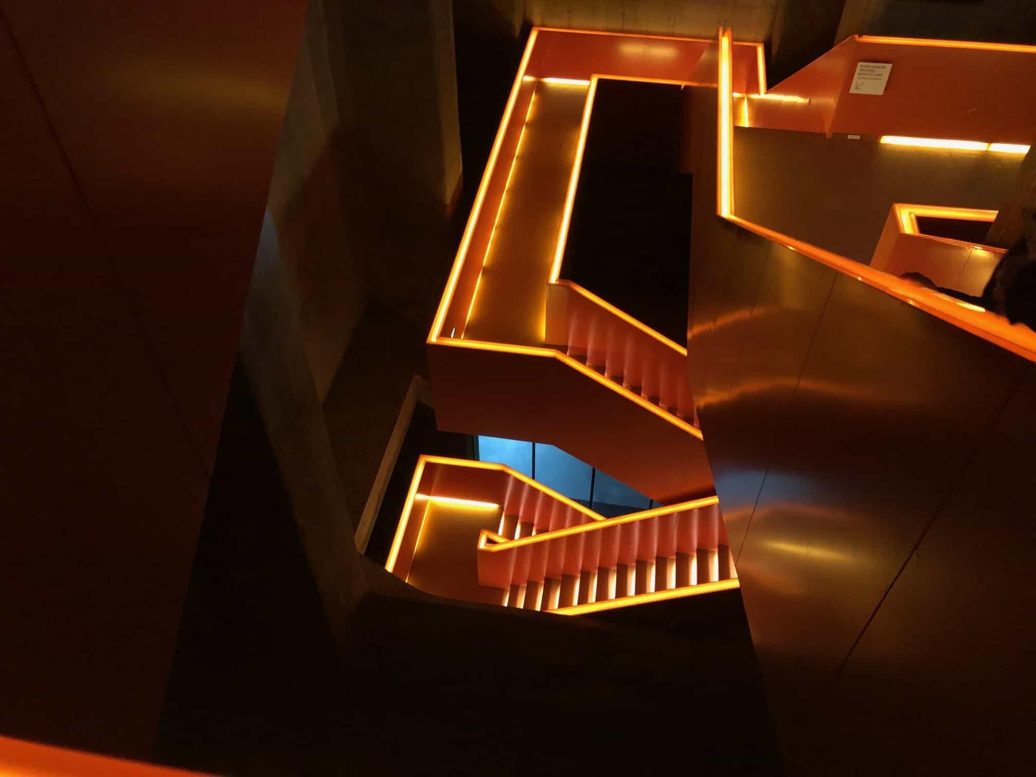 Lichtkunst Treppe Ruhr Museum