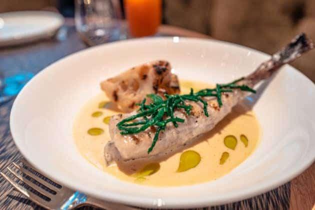 Fischgerichte, eine Spezialität des Hauses